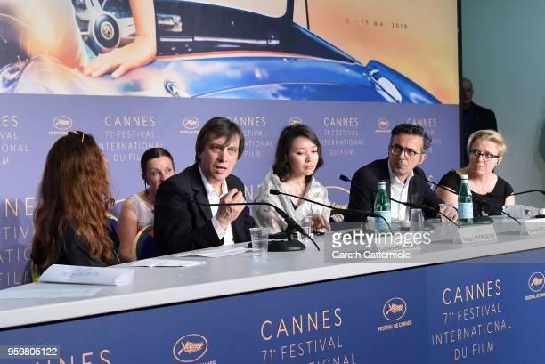 Director Sergey Dvortsevoy actress Samal Yeslyamova producers Thanassis Karathanos and Anna Wydra attend Ayka Press Conference during the 71st annual...
