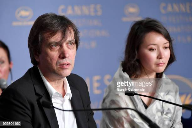 Director Sergey Dvortsevoy and actress Samal Yeslyamova attend Ayka Press Conference during the 71st annual Cannes Film Festival at Palais des...