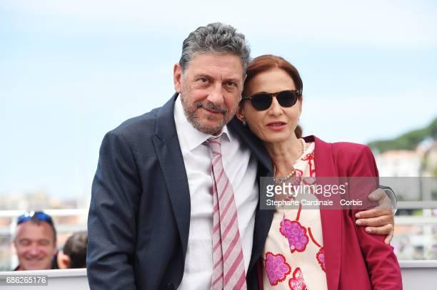 "Director Sergio Castellitto and Screenwriter Margaret Mazzantini attend the ""Fortunata"" photocall during the 70th annual Cannes Film Festival at..."