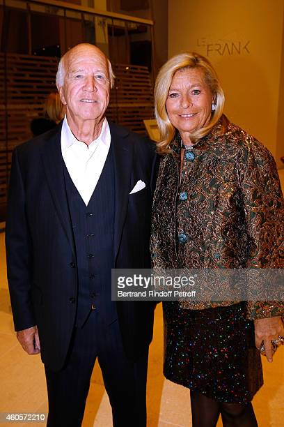 Director Sergio Gobbi and his wife Corinne Bouygues attend the 'Fondation Claude Pompidou' Charity Party at Fondation Louis Vuitton on December 16...
