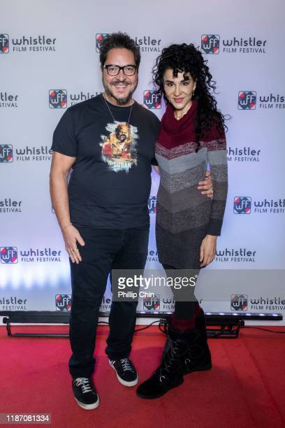 Director Sergio Navarretta and Actor Layla Alizada attend the red carpet for their film The Cuban at the Maury Young Arts Centre during the 2019...