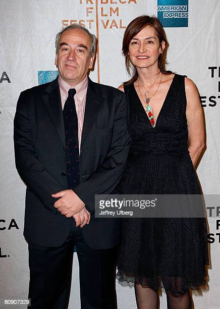 Director Sergio Toffetti and Deborah Young attend the Premiere of 'Toby Dammit' at the 7th Annual Tribeca Film Festival on April 28 2008 in New York...