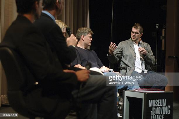 Director Seth Gordon and Donkey Kong star Steve Wiebe participate in a QA at the screening of Picturehouse's 'The King of Kong A Fistful of Quarters'...