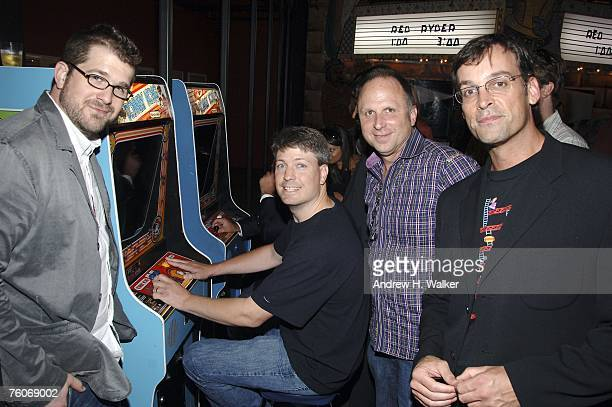 Director Seth Gordon Donkey Kong star Steve Wiebe Picturehouse president Bob Berney and producer Ed Cunningham attend the screening of Picturehouse's...
