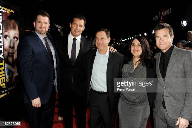 Director Seth Gordon producer Scott Stuber Adam Fogelson Chairman Universal Pictures producer Pam Abdy and actor Jason Bateman arrive at the premiere...
