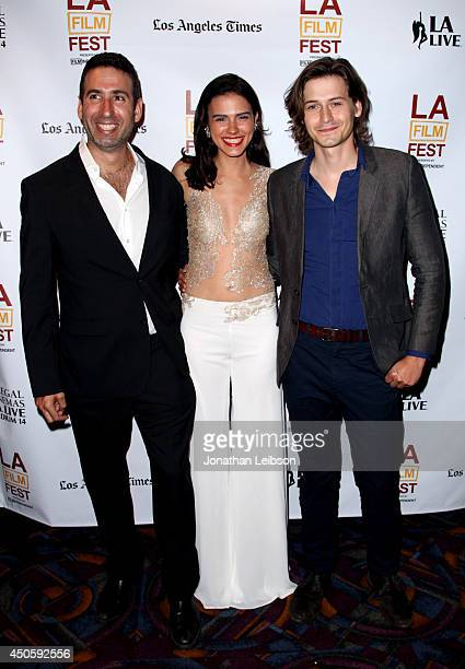 Director Seth Grossman actors Lara Vosburgh and Morgan McClellan attend the premiere of Inner Demons during the 2014 Los Angeles Film Festival at...