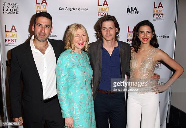 Director Seth Grossman producer Robin Schorr actors Morgan McClellan and Lara Vosburgh attend the premiere of Inner Demons during the 2014 Los...