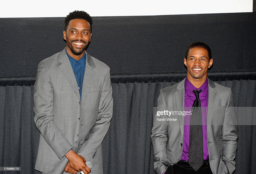 Director Shaka King and actor Amari Cheatom attend 'Newlyweeds' premiere during NEXT WEEKEND, presented by Sundance Institute at Sundance Sunset Cinema on August 10, 2013 in Los Angeles, California.