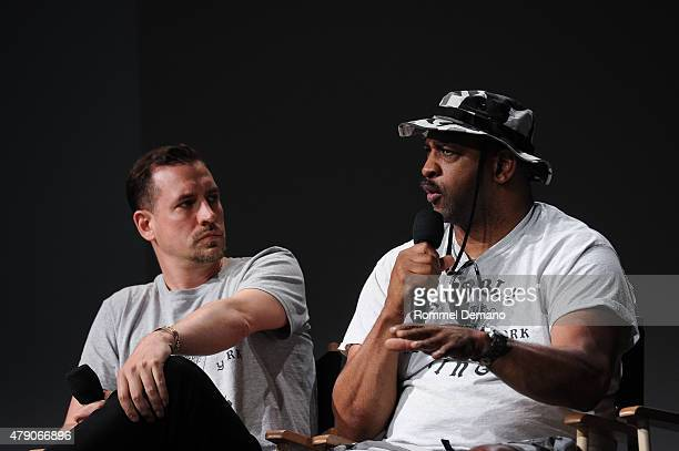 Director Shan Nicholson and Topaz attend Apple Store Soho Presents Meet the Filmmaker Shan Nicholson Rubble Kings at Apple Store Soho on June 30 2015...