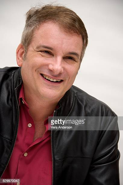 """Director Shane Black at the """"Nice Guys"""" Press Conference at the Four Seasons Hotel on April 26, 2016 in Beverly Hills, California."""