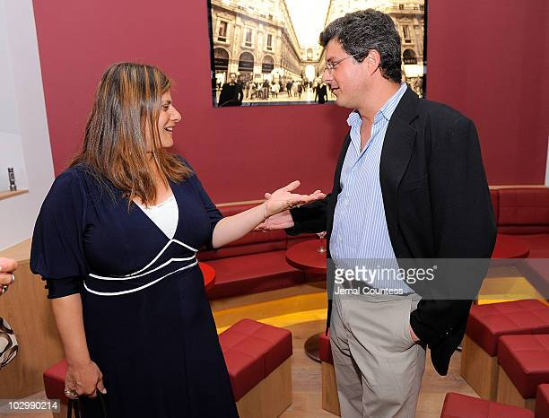 Director Shari Springer Berman and producer Anthony Bregman attend the after party for the premiere of The Extra Man at Vapiano on July 19 2010 in...