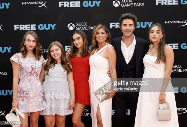 """Director Shawn Levy and guest attend the """"Free Guy"""" New York Premiere at AMC Lincoln Square Theater on August 03, 2021 in New York City."""