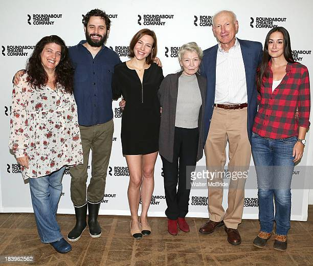 Director Sheryl Kaller Luke Kirby Rebecca Henderson Phyllis Somerville James Rebhorn and Playwright Meghan Kennedy attend the 'Too Much Too Much Too...