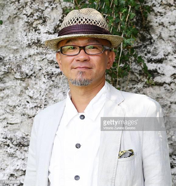 Director Shinji Aoyama poses for a portrait during the 66th Locarno Film Festival on August 15 2013 in Locarno Switzerland