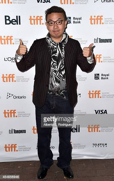 Director Shion Sono attends the Tokyo Tribe premiere during the 2014 Toronto International Film Festival at Ryerson Theatre on September 4 2014 in...