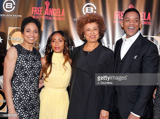"""Director Shola Lynch, executive producer Jada Pinkett Smith, activists Angela Davis and actor/rapper Will Smith attend """"Free Angela and All Political..."""