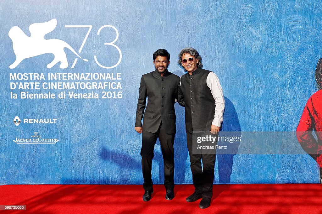 Director Shubhashish Bhutiani and Sanjay Bhutiani (R) attend the premiere of 'Hotel Salvation' Premiere during the 73rd Venice Film Festival at Sala Giardino on September 2, 2016 in Venice, Italy.