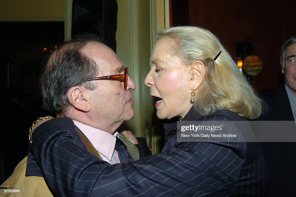 Director Sidney Lumet and Lauren Bacall attend a party in his honor at Arabelle in the Plaza Athenee in anticipation of the Honorary Award which will be presented to him at the Academy Awards ceremony on Sunday.
