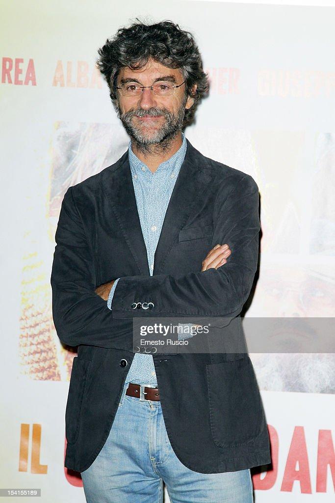 Director Silvio Soldini attends the 'Il Comandante e La Cicogna' photocall at the Space Moderno on October 15, 2012 in Rome, Italy.