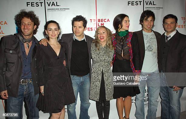 Director Simon Brand with actors Ana de La Reguera John Leguizamo Angelica Blandon Margarita Rosa de Francisco Aldermar Correa and Pedro Capo...