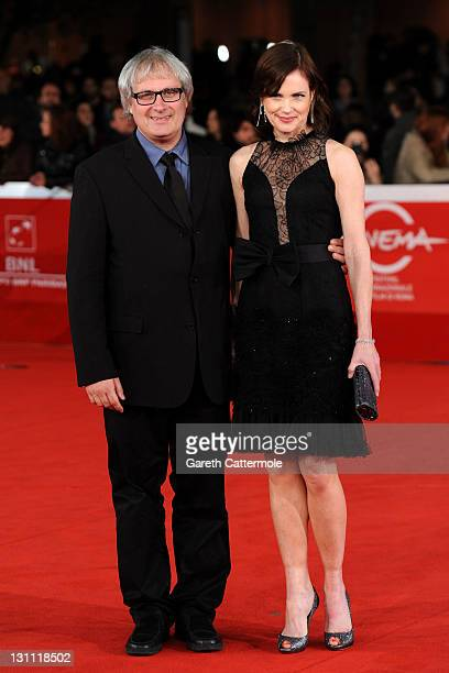 "Director Simon Curtis and Elizabeth McGovern attend ""My Week With Marilyn"" premiere during the 6th International Rome Film Festival on November 1,..."