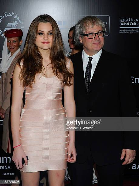 Director Simon Curtis with his daughter Matilda attend the My Week With Marilyn premiere during day seven of the 8th Annual Dubai International Film...