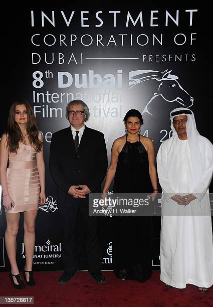 Director Simon Curtis with his daughter Matilda managing director of DIFF Shivani Pandya and DIFF Chairman Abdulhamid Juma attend the My Week With...