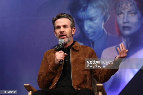 """Director Simon Kinberg attends the press conference for the South Korean premiere of """"X-Men: Dark Phoenix"""" on May 27, 2019 in Seoul, South Korea."""