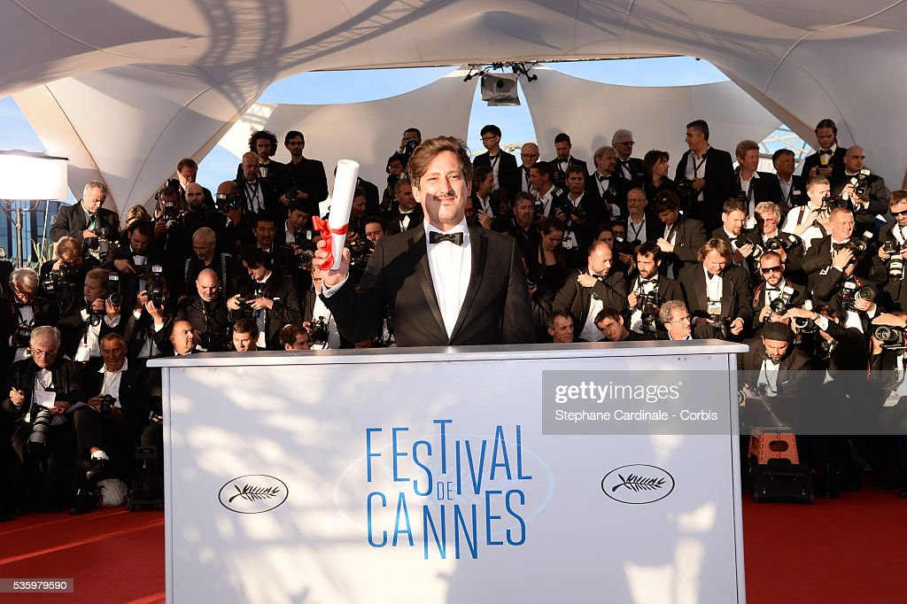 Director Simon Mesa Soto, winner of the Short Film Special Distinction for his film 'Leidi' at the Winners photocall during 67th Cannes Film Festival