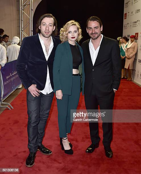 Director Simon Stone and actors Odessa Young and Ewen Leslie attend 'The Daughter' premiere during day six of the 12th annual Dubai International...
