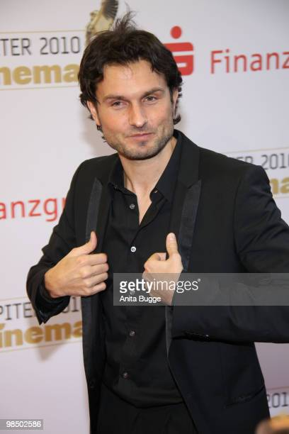 Director Simon Verhoeven arrives to the Jupiter Award ceremony at the 'Puro Sky Lounge' on April 16 2010 in Berlin Germany
