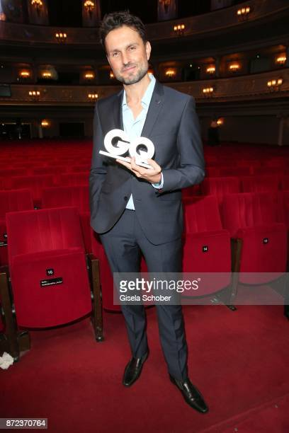 Director Simon Verhoeven with award during the show of the GQ Men of the year Award 2017 at Komische Oper on November 9 2017 in Berlin Germany