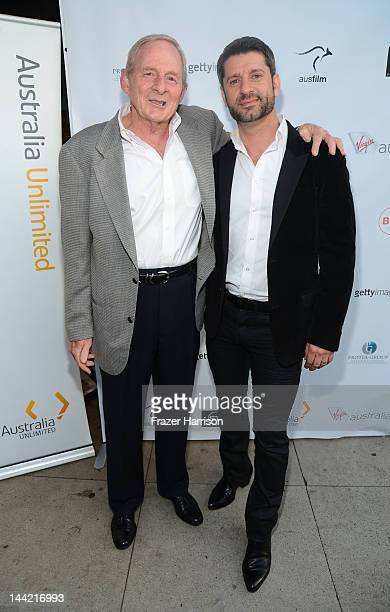 Director Simon Wincer and actor Harli Ames arrive at the Australians In Film Screening and USA premiere of Myriad Pictures' The Cup at Laemmle's...