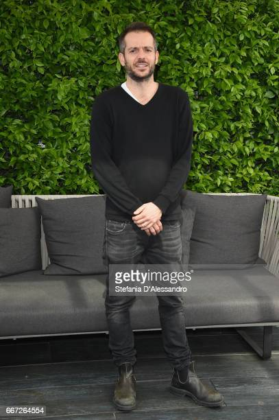 Director Simone Godano attends a photocall for 'Moglie E Marito' on April 11 2017 in Milan Italy