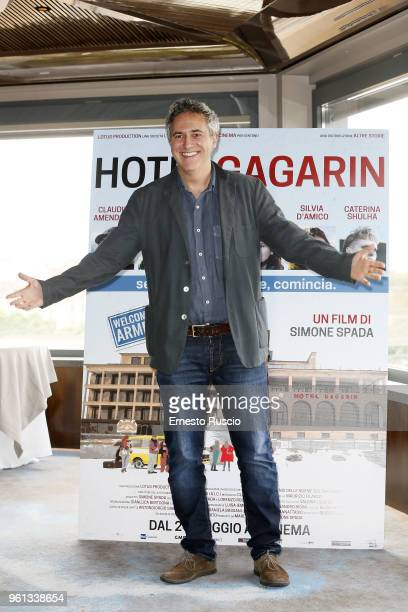 Director Simone Spada attends a photocall for 'Hotel Gagarin' at Hotel Eden on May 22 2018 in Rome Italy