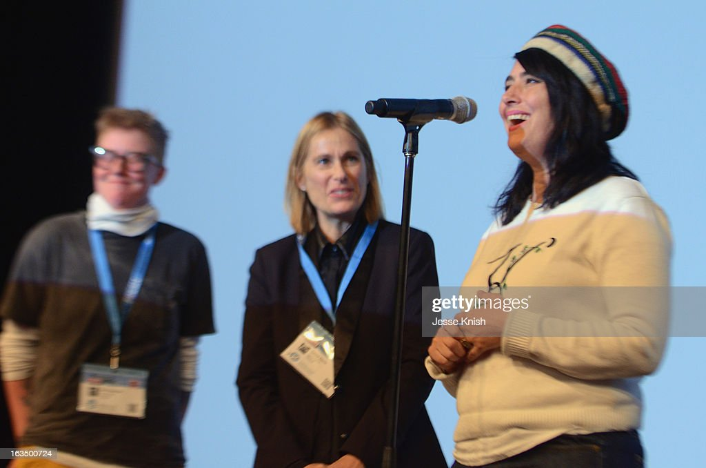 Director Sini Anderson, producer Tamra Davis and musician Kathleen Hanna speaks onstage at 'The Punk Singer' Q&A during the 2013 SXSW Music, Film + Interactive Festival at Austin Convention Center on March 10, 2013 in Austin, Texas.