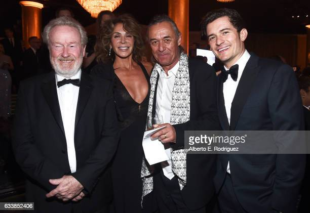 Director Sir Ridley Scott actress Giannina Facio cinematographer Dariusz Wolski and actor Orlando Bloom attend the 69th Annual Directors Guild of...
