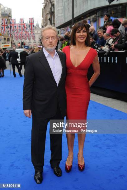 Director Sir Ridley Scott and his wife Giannina Facio arrive for the world premiere of the film Prometheus in Leicester Square, London.