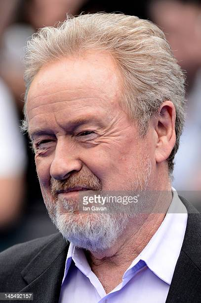 Director Sir Ridley Scott attends the world premiere of 'Prometheus' at the Empire Leicester Square on May 31 2012 in London England
