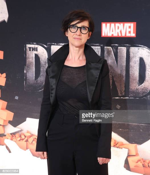 Director SJ Clarkson attends the Marvel's The Defenders New York premiere at Tribeca Performing Arts Center on July 31 2017 in New York City