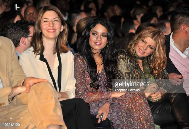 Director Sofia Coppola actress Vanessa Hudgens and singer Fergie attend the Anna Sui Fall 2011 fashion show during MercedesBenz Fashion Week at The...