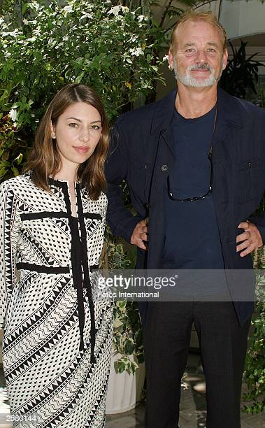 OUT*** Director Sofia Coppola and actor Bill Murray pose at the press conference for their new film Lost in Translation at the Four Seasons Hotel on...