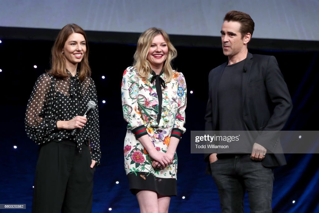 Director Sofia Coppola, and actors Kirsten Dunst and Colin Farrell speak onstage at CinemaCon 2017- Focus Features: Celebrating 15 Years and a Bright Future at Caesars Palace during CinemaCon, the official convention of the National Association of Theatre Owners, on March 29, 2017 in Las Vegas Nevada.