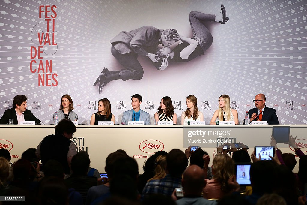 Director Sofia Coppola and actress Emma Watson, actor Israel Broussard, actresses Katie Chang, Taïssa Fariga, Claire Julien and producer Youree Henley attend 'The Bling Ring' press conference during the 66th Annual Cannes Film Festival at Palais des Festival on May 16, 2013 in Cannes, France.