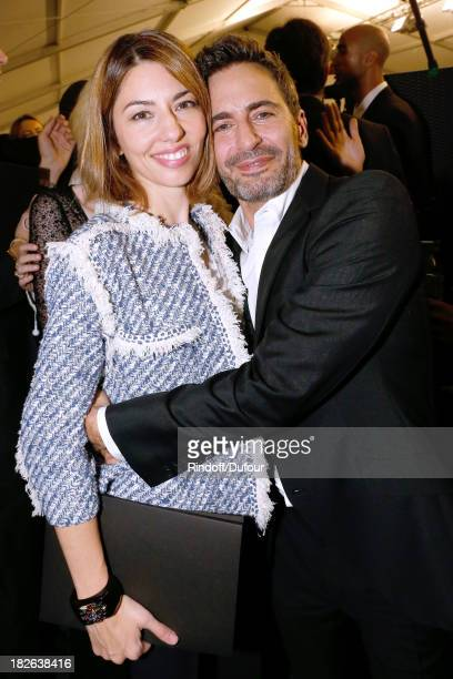 Director Sofia Coppola and Fashion Designer of Louis Vuitton Marc Jacobs backstage after the Louis Vuitton show as part of the Paris Fashion Week...