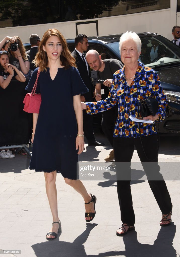 Director Sofia Coppola and her mother Eleonor Coppola attends the Chanel Haute Couture Fall/Winter 2017-2018 show as part of Paris Fashion Week on July 4, 2017 in Paris, France.