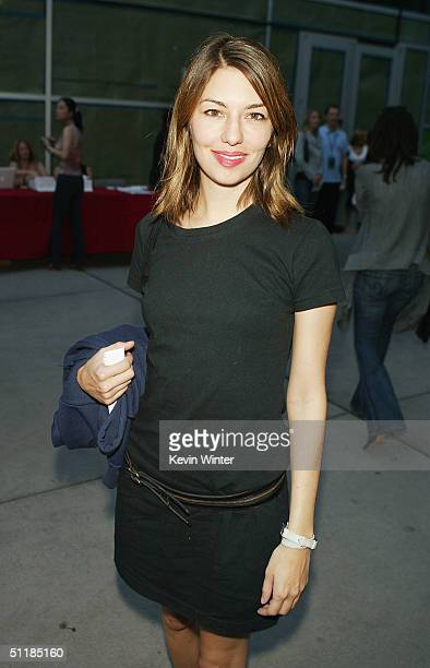 """Director Sofia Coppola arrives at the premiere of Miramax's """"Hero"""" at the Arclight Theater on August 17, 2004 in Los Angeles, California."""