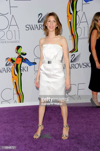 Director Sofia Coppola attends the 2011 CFDA Fashion Awards at Alice Tully Hall Lincoln Center on June 6 2011 in New York City