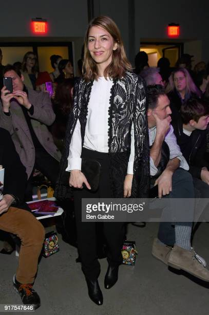 Director Sofia Coppola attends the Anna Sui fashion show during New York Fashion Week The Shows at Gallery I at Spring Studios on February 12 2018 in...