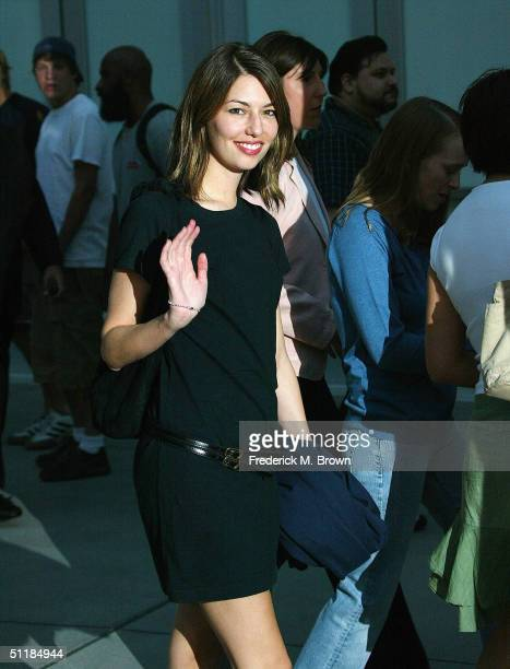 """Director Sofia Coppola attends the film premiere of """"Hero"""" at the Arclight Theater on August 17, 2004 in Hollywood, California. The film """"Hero"""" opens..."""